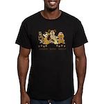 OCD Obsessive Canine D Men's Fitted T-Shirt (dark)
