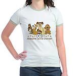 OCD Obsessive Canine Disorder Jr. Ringer T-Shirt