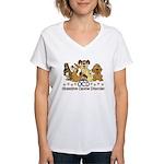 OCD Obsessive Canine Disord Women's V-Neck T-Shirt