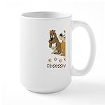 OCD Obsessive Canine Disorder Large Mug