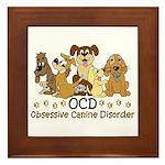 OCD Obsessive Canine Disorder Framed Tile