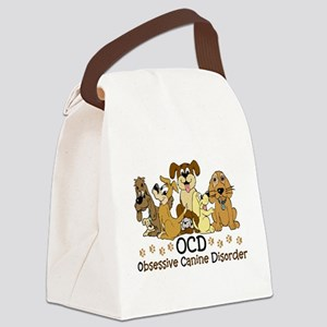 OCD Obsessive Canine Disorder Canvas Lunch Bag