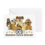 OCD Obsessive Canine Dis Greeting Cards (Pk of 10)
