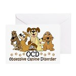 OCD Obsessive Canine Disorder Greeting Card