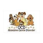 OCD Obsessive Canine Disorder 35x21 Wall Decal