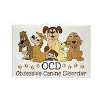 OCD Obsessive Canine Disorder Rectangle Magnet