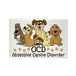 OCD Obsessive Canine Di Rectangle Magnet (10 pack)