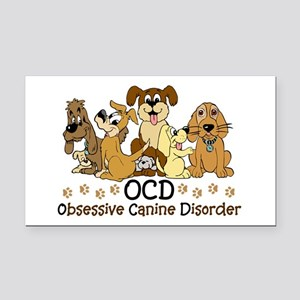 OCD Obsessive Canine Disorder Rectangle Car Magnet