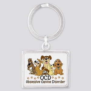 OCD Obsessive Canine Disorder Landscape Keychain