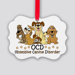 OCD Obsessive Canine Disorder Picture Ornament