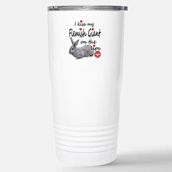 Kiss My Flemish - light Stainless Steel Travel Mug