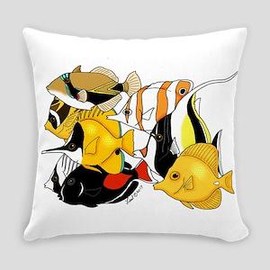 Hawaiian Fish Everyday Pillow