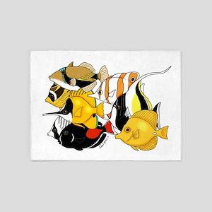 Hawaiian Fish 5'x7'Area Rug