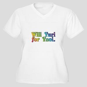 Yuri4yaoi Women's Plus Size V-Neck T-Shirt