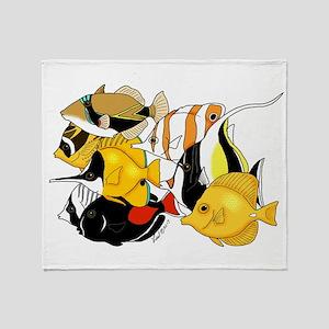 Hawaiian Fish Throw Blanket