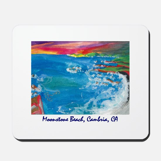 Moonstone Beach, Cambria CA Mousepad