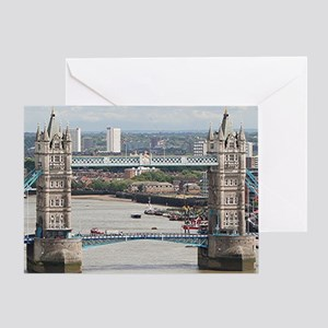 Tower Bridge over River Thames, Lond Greeting Card