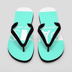 Paris Audrey Hepburn Mint Green Flip Flops