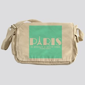 Paris Audrey Hepburn Mint Green Messenger Bag