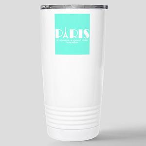 Paris Audrey Hepburn Mint Green Travel Mug