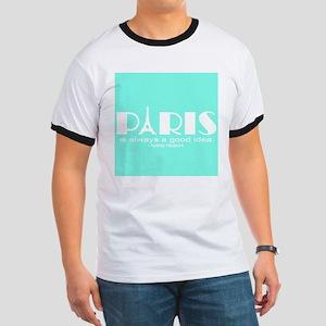 Paris Audrey Hepburn Mint Green T-Shirt