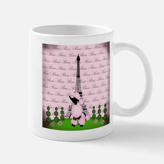 Vintage Pink Paris Mugs