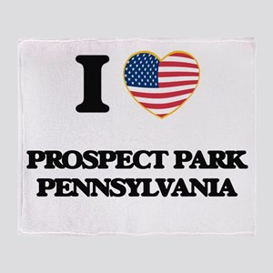 I love Prospect Park Pennsylvania Throw Blanket