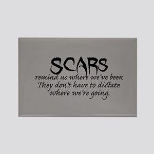 Scars Rectangle Magnet