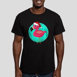 Teal Pink Christmas Flamingo T-Shirt