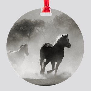 Galloping Horses Round Ornament