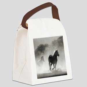 Galloping Horses Canvas Lunch Bag