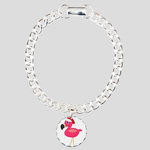 Christmas Flamingo Santa Bracelet