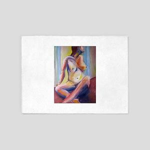 rainbow nude 5'x7'Area Rug