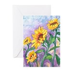 Sunny Sunflowers Greeting Cards (Pk of 20)