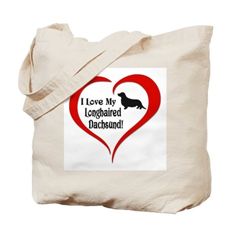 Longhaired Dachsund Tote Bag