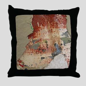 Layered Paint Throw Pillow