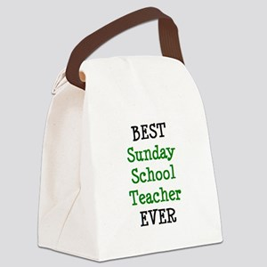 best sunday school teacher Canvas Lunch Bag