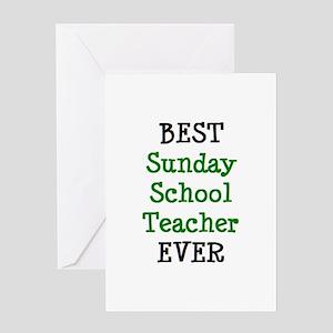 best sunday school teacher Greeting Card