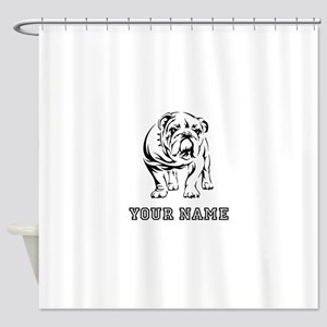 Bulldog (Custom) Shower Curtain