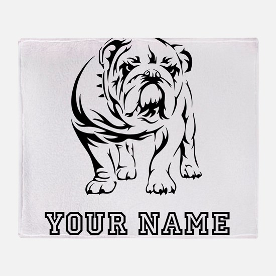 Bulldog (Custom) Throw Blanket