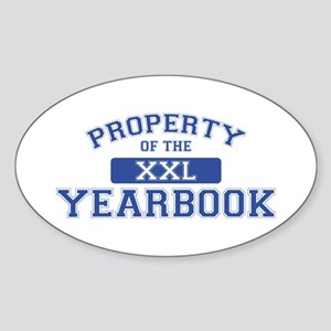 Property Of The Yearbook XXL Oval Sticker