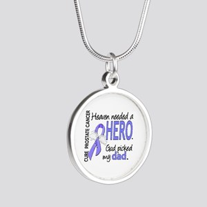 Prostate Cancer HeavenNeeded Silver Round Necklace