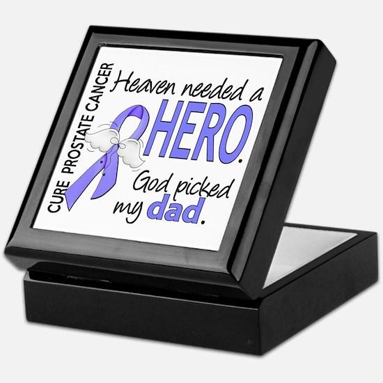 Prostate Cancer HeavenNeededHero1 Keepsake Box