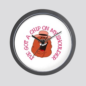 Chip On My Shoulder Wall Clock
