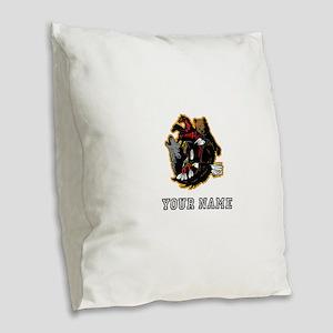 Native American Animals (Custom) Burlap Throw Pill