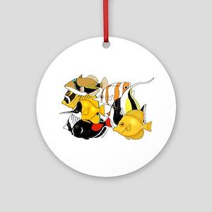 Hawaiian Fish Round Ornament