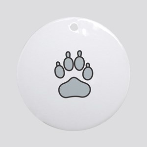 Wolf Paw Ornament (Round)