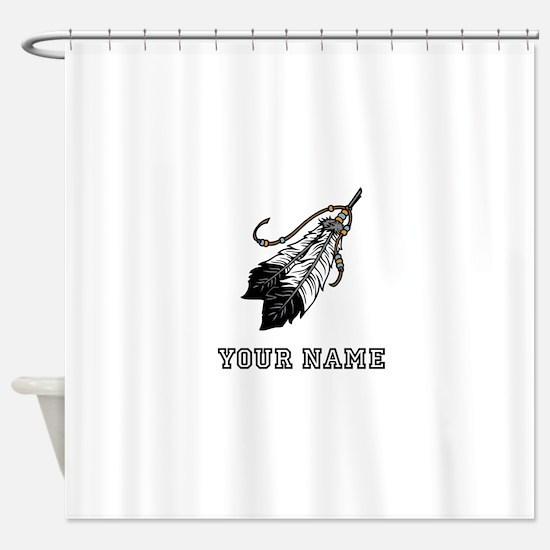 Native American Feathers (Custom) Shower Curtain