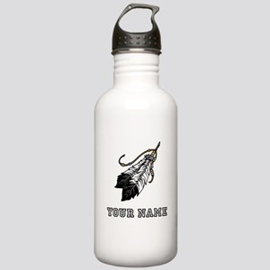 Native American Feathers (Custom) Water Bottle