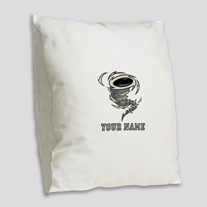 Tornado (Custom) Burlap Throw Pillow
